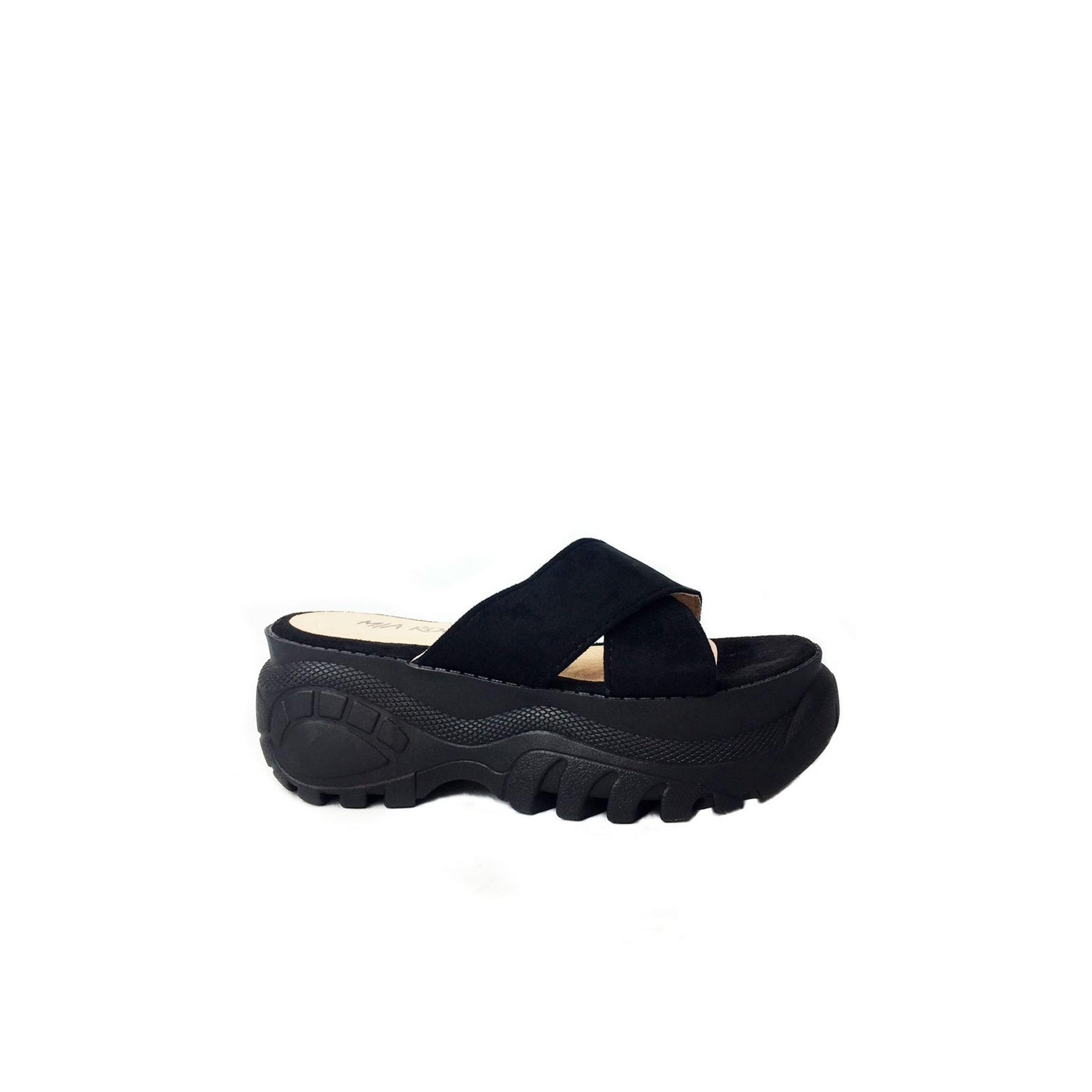 Negra V8nnm0wo Calzado Con Plataformauissos Suela Sandalia En Moda De DE2WHI9